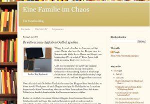 So sieht Franks Familienblog aus :-)